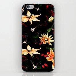 Floral Night II iPhone Skin