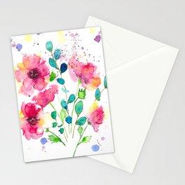 Meraki Loose Poppies Stationery Cards