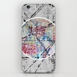 Crossroads No.3 - black and white iPhone Skin