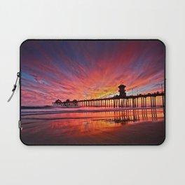 Sunset Huntington Beach Pier CA   Laptop Sleeve