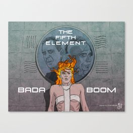 Bada Boom Canvas Print