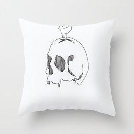 Skull Sparrow Throw Pillow