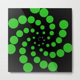 green fat spiral Metal Print