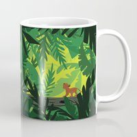 simba Mugs featuring Lion King - Simba Pattern by Cina Catteau