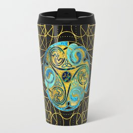 Decorative Triquetra Celtic Ornament Travel Mug