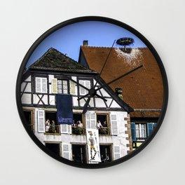 Windows - Colmar France Wall Clock