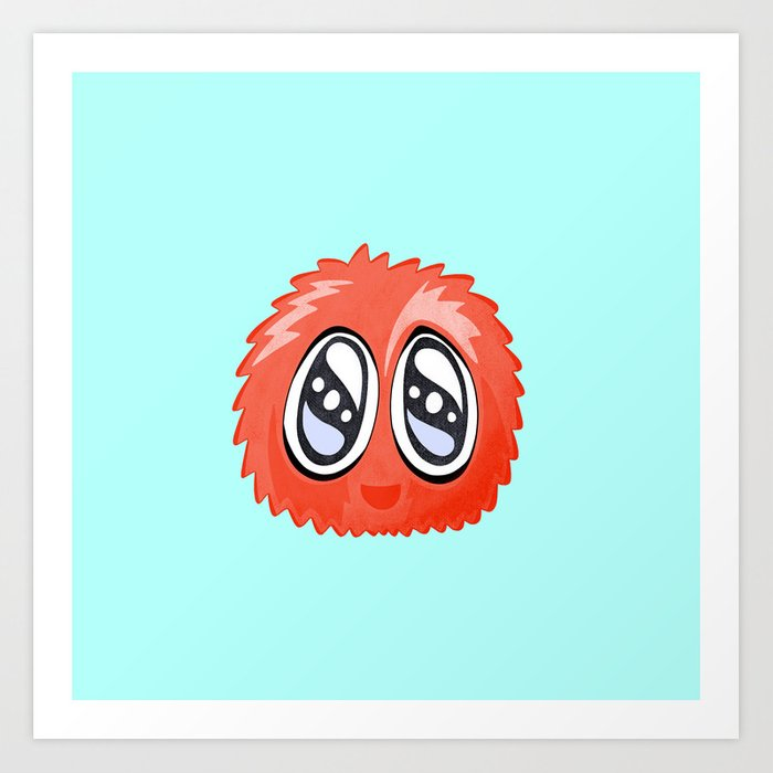 Alien Herbert Sponge Face Cartoon Art Print