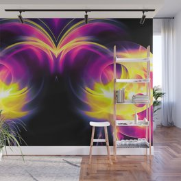 abstract fractals mirrored reaclsh Wall Mural