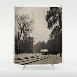 forest tram Shower Curtain