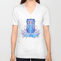 elsa V-neck T-shirts featuring Elsa by NicoleGrahamART