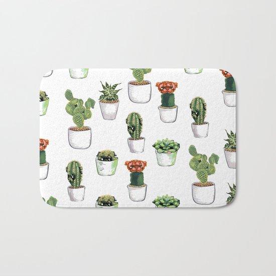 Cacti &  Pugculents Bath Mat