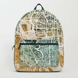 Washington DC Street Map Backpack