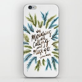 Mountains Calling iPhone Skin
