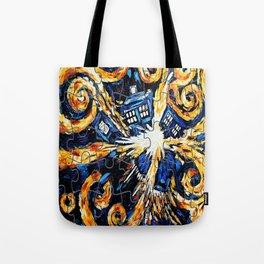 Tardis Exploded / Tardis Starry Night Puzzles Tote Bag