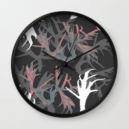 Horns Pinky Pattern Wall Clock