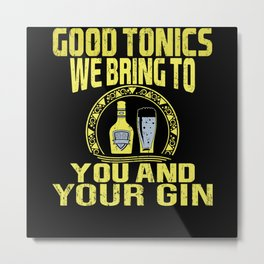 Gin Cocktail Alcohol Lover Party Outfit Metal Print