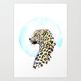 Glamour Leopard Art Print