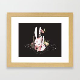 rabbit hole Framed Art Print