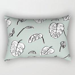 Swiss Cheese Plant Leaves Rectangular Pillow