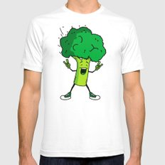 Broccoli rocks! SMALL White Mens Fitted Tee