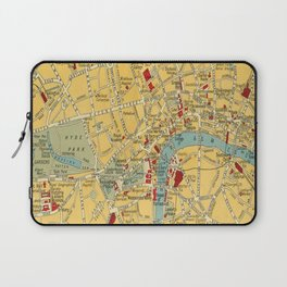 Vintage map of Central London Laptop Sleeve