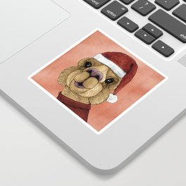 Alpaca Christmas Sticker