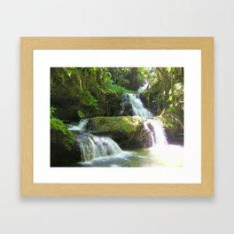Tropical Waterfall Framed Art Print