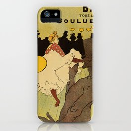 Paris nightlife 1891 Toulouse Lautrec iPhone Case