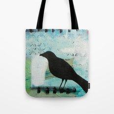 Blackbird singing Tote Bag