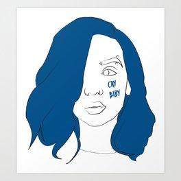 Cry baby vector portrait Art Print