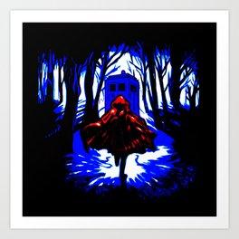 Shadow Light Of Tardis Art Print