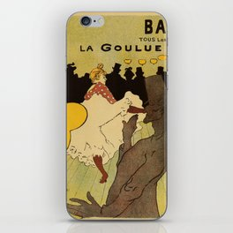 Paris nightlife 1891 Toulouse Lautrec iPhone Skin
