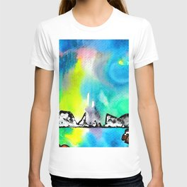 Northern Lights and Mountains T-shirt