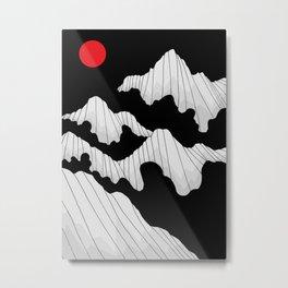 The dark cloud peaks Metal Print