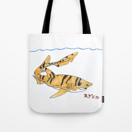 Tiger Cat Shark Tote Bag