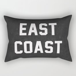 East Coast - black Rectangular Pillow