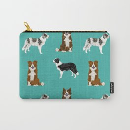 Border Collie mixed coats dog breed pattern gifts collies dog lover Carry-All Pouch