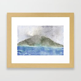 Sakura-jima Framed Art Print