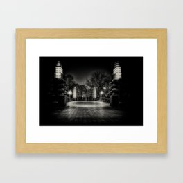Night Cyclist Framed Art Print