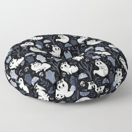 Ghost Cats in the Cemetery Floor Pillow