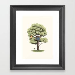 Tyre Swing Framed Art Print
