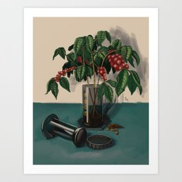 Aeropress Coffee Plant Art Print