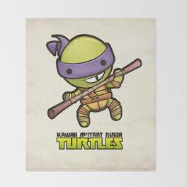 Donatello - Kawaii Mutant Ninja Turtles Throw Blanket