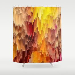 Sun Kissed Hidden Bubble Art Abstract Shower Curtain