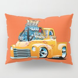 American Classic Hotrod Pickup Truck Cartoon Pillow Sham