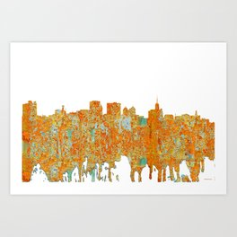 Buffalo, New York Skyline - Rust Art Print