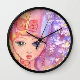 """butterfly bows"" by Dani Choate Wall Clock"