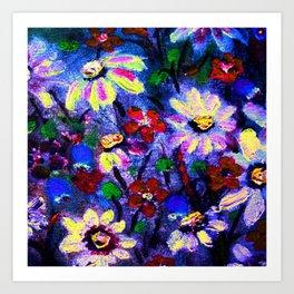 Bloomin Blues Art Print