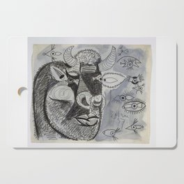 Pablo Picasso Bull Painting 1937 Artwork for Prints Posters Tshirts Bags Men Women Youth Cutting Board