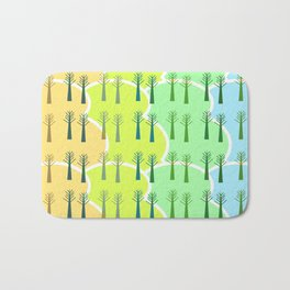 Trees and colorful clouds Bath Mat